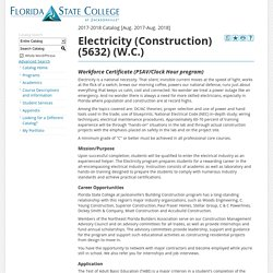 Program: Electricity (Construction) (5632) (W.C.) - Florida State College at Jacksonville - Acalog ACMS™
