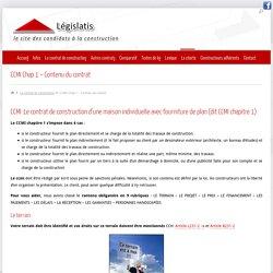 contenu du contrat de construction - ccmi - garantie