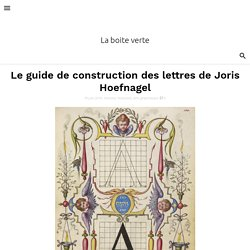 Le guide de construction des lettres de Joris Hoefnagel