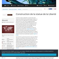 Construction de la Statue de la Liberté, de sa charpente et du socle