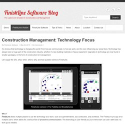 Construction Management: Technology Focus