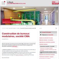 La construction de bureaux modulaires - Activité phare de ProContain