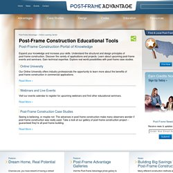 Post-Frame Construction Online Education