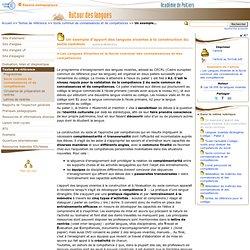 Un exemple d'apport des langues vivantes à la construction du socle commun- Autour des langues