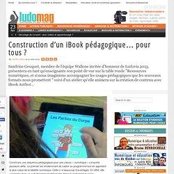 Construction d'un iBook pédagogique… pour tous ?