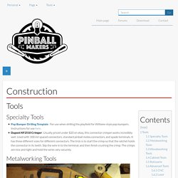 Construction - Pinball Makers
