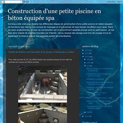 juin 2015 – Construction d'une petite piscine en béton équipée spa