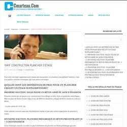 TARIF CONSTRUCTION PLANCHER D'ÉTAGE -Cmarteau.com