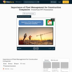 Importance of Fleet Management for Construction Companies