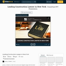 Leading Construction Lawyer in New York