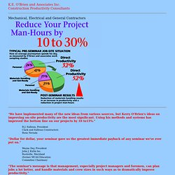 Construction Jobsite Productivity Improvement. K.E. O'Brien & Associates Inc.
