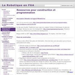 Ressources pour construction et programmation - La Robotique en FGA