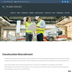 Construction Recruitment: Construction Agency London - Howard Finley