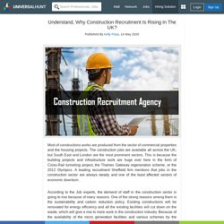 Understand, Why Construction Recruitment Is Rising In The UK?