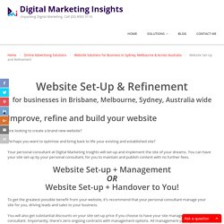 Website Build, Construction, Set-Up & Refinement Sydney Australia