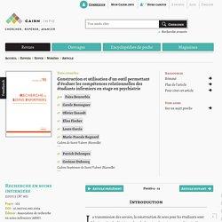 évaluer les compétences relationnelles des étudiants en stage en psychiatrie
