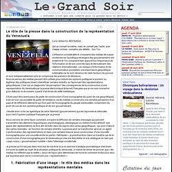 Le rôle de la presse dans la construction de la représentation du Venezuela par Luis Alberto Reygada