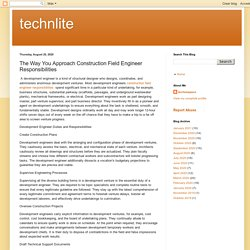 technlite: The Way You Approach Construction Field Engineer Responsibilities