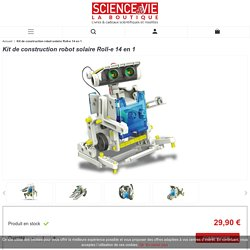 Kit de construction robot solaire Roll-e 14 en 1 - La Boutique Science & Vie