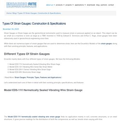 Types Of Strain Gauges: Construction & Specifications