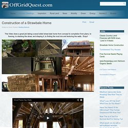 Construction of a Strawbale Home