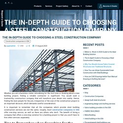 The In-depth Guide to Choosing a Steel Construction Company - Pavilion Structures.