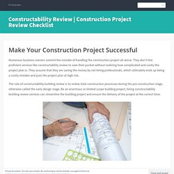Make Your Construction Project Successful
