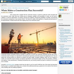 Whats Makes a Construction Plan Successful?