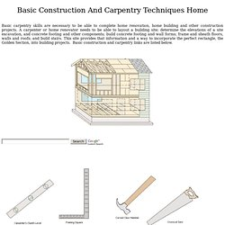 Basic Construction And Carpentry Techniques