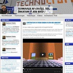 Construction du Forum Romain en latin avec Minecraft » Technologie collège, TICE, jeux vidéo et éducation