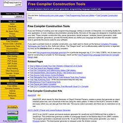 Free Compiler Construction Tools: Lexers, Parser Generators, Opt