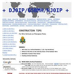 { CONSTRUCTION TIPS } - Ham Radio Site