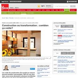 Construction ou transformation : combien ça coûte?