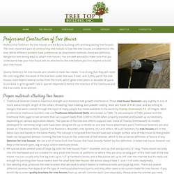 Tree Houses - Fasteners & Bolts for Tree Houses - Construction of Treehouses
