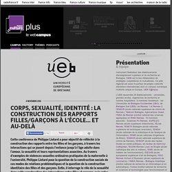 CORPS, SEXUALITÉ, IDENTITÉ : LA CONSTRUCTION DES RAPPORTS FILLES/GARÇONS À L'ÉCOLE… ET AU-DELÀ / UNIVERSITE EUROPEENNE DE BRETAGNE