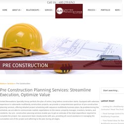 Multifamily Housing Pre Construction Planning Services - URSpecialtyGroup