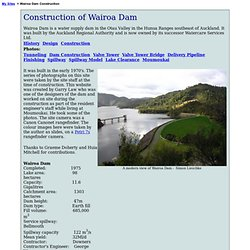 Construction of Wairoa Dam