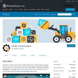 Under Construction – WordPress plugin