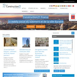 le portail international des professionnels de la construction durable