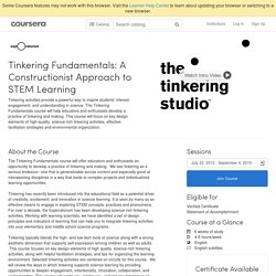 Tinkering Fundamentals: A Constructionist Approach to STEM Learning - Exploratorium