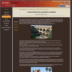 Constructions des aqueducs romains
