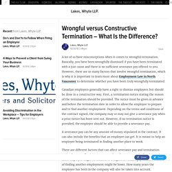 Wrongful versus Constructive Termination – What Is the Difference?