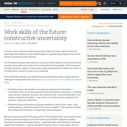 Work skills of the future: constructive uncertainty