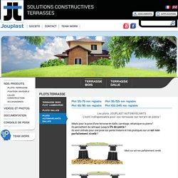 Jouplast - Solutions Constructives Terrasses - Plot terrasse autonivelant réglable dalle jouplast
