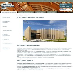 Solutions constructives bois