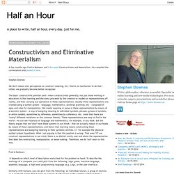 Constructivism and Eliminative Materialism