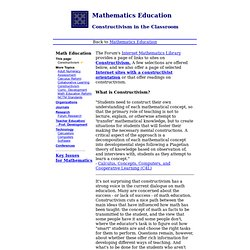 Math Forum - Constructivism in Mathematics Education