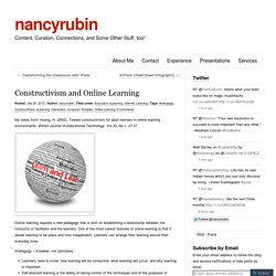 Constructivism and Online Learning