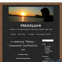 ϵ-Learning Theory – Communal Constructivism