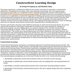 Constructivist Learning Design Paper